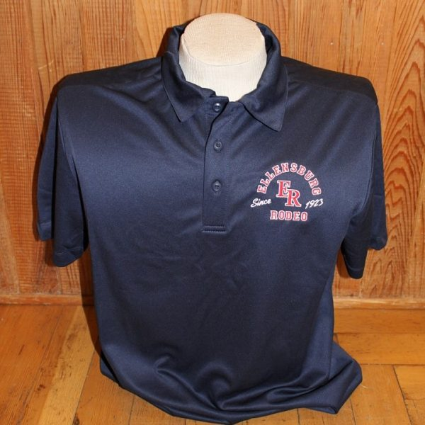 Navy Poly Polo